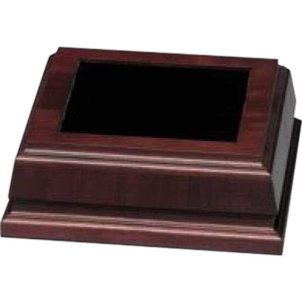 "Walnut Royal Finish Base, 7 3/4"" X 2 3/4"" X 7 3/4"" Photo"
