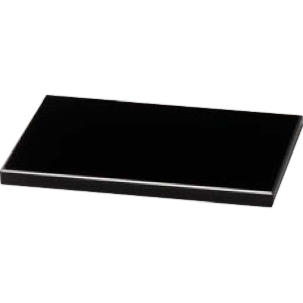 "Black Glass Base, 6"" X 3/8"" X 4' Photo"