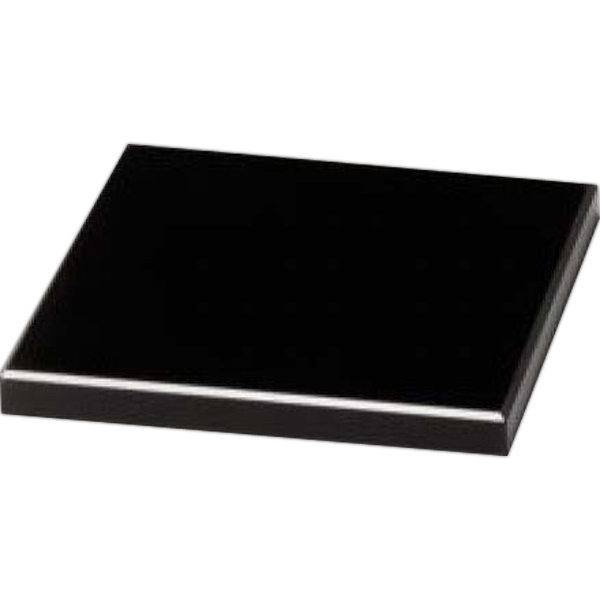 "Black Glass Base, 4"" X 3/8"" X 4"" Photo"