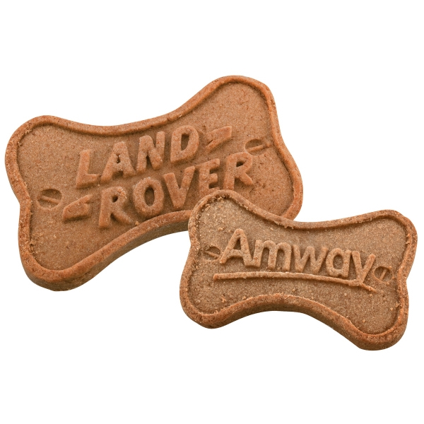 Bone-shaped Dog Biscuit With All-natural, Dog-friendly Ingredients. 3d Logo On Each Photo