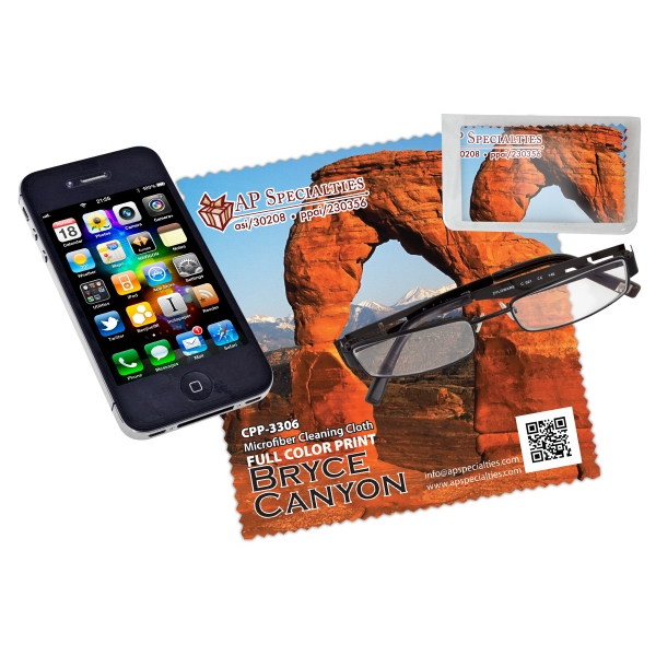 Microfiber Cloth For Cleaning Phone, Tablet, Pc, Etc. Full-color Imprint Included Photo