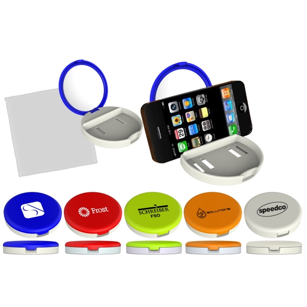 1 Working Day - Compact Mirror Inside. Base Serves As Phone Stand. Cleaning Cloth Included In Base Photo