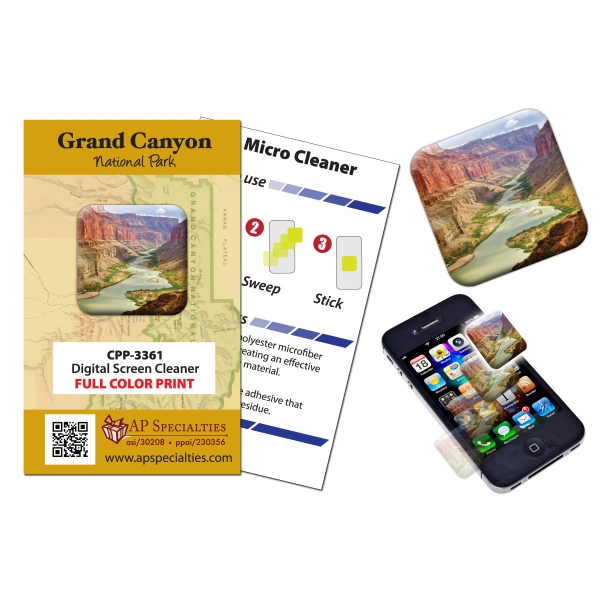 Digital Screen Cleaner For Cell Phone, Tablet, Etc. Full-color Imprint Included Photo