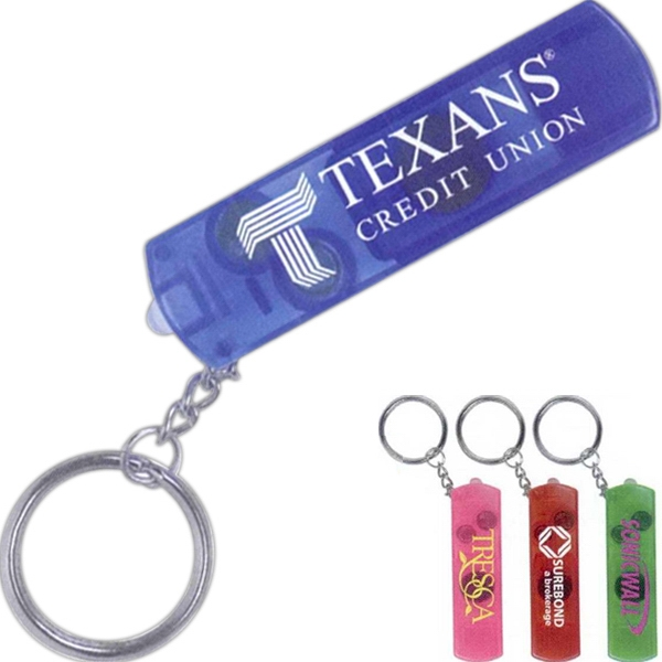 Survivor - 7 Working Days - Whistle, Compass And Light With Split Keyring. 4 Colors. Batteries Included Photo