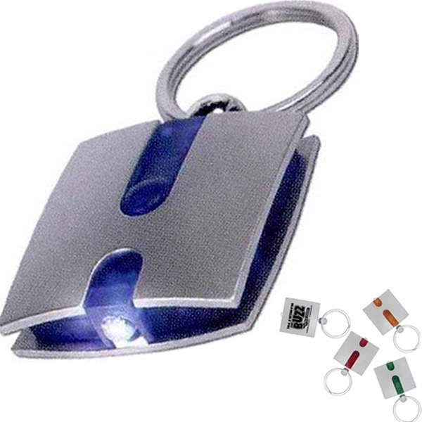 7 Working Days - Silver Keylight With Choice Of 4 Translucent Color Accents And White Light Photo