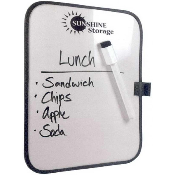 Just Write - 7 Working Days - Dry-erase Board With Magnets On Back. Includes Dry-erase Pen. White With Black Trim Photo