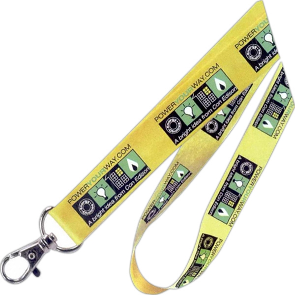 "3/4"" - Flat Cotton Lanyard In Standard Colors Photo"