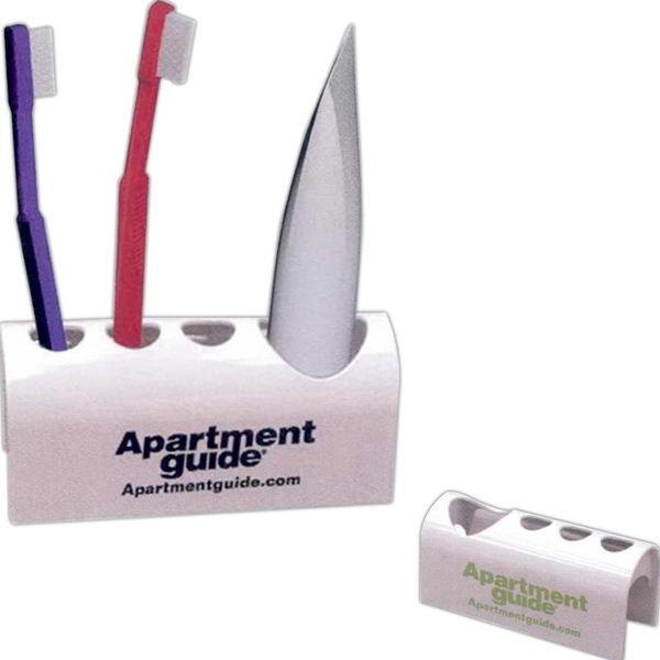 Zen - 40 Working Days - Light Weight Plastic Holder Holds 3 Toothbrushes And 1 Tube Of Toothpaste Photo