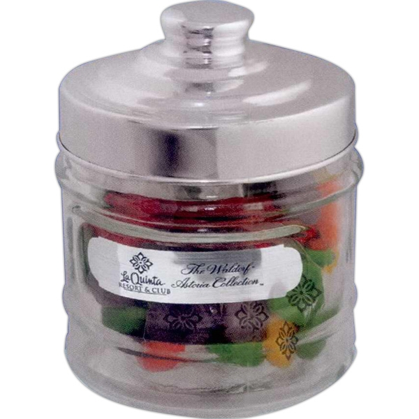 Clear, Glass Apothecary Jar With Snug-fit Lid And Chewy Sprees. Print On Both Photo