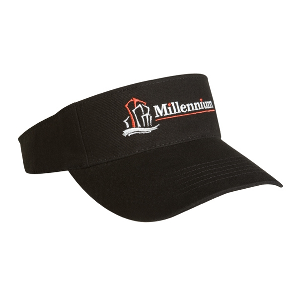 2900 Series - Black - Light Weight Brushed Cotton Twill, 3-panel Visor, 6 Rows Of Visor Stitches Photo