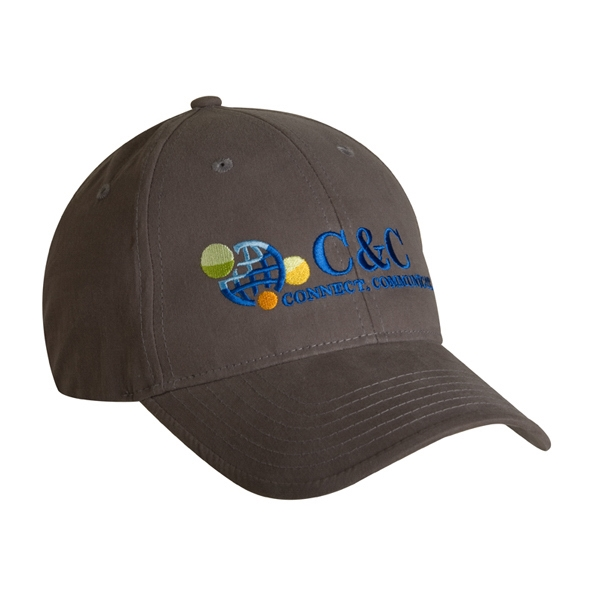 4025 Series - Graphite - 6-panel Water Repellent Baseball Cap, Low Profile Photo