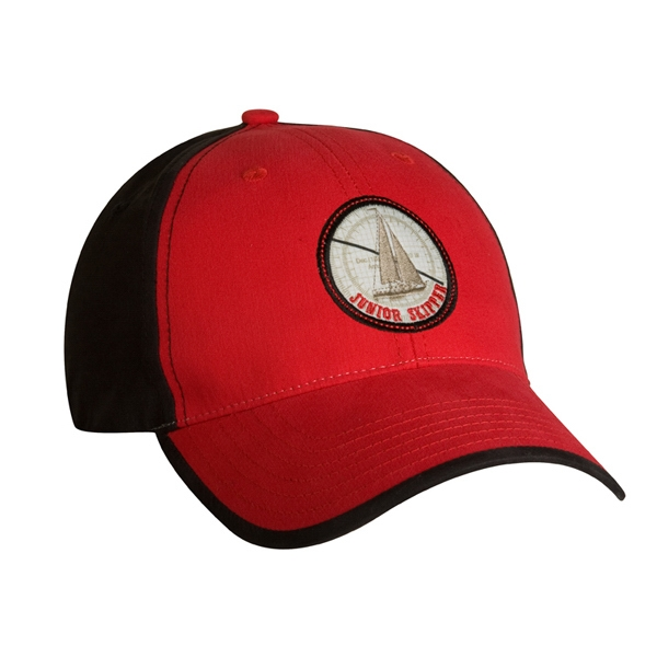 4055 Series - Red-black - Structured Low Profile, Cotton/nylon 6-panel Baseball Cap Photo