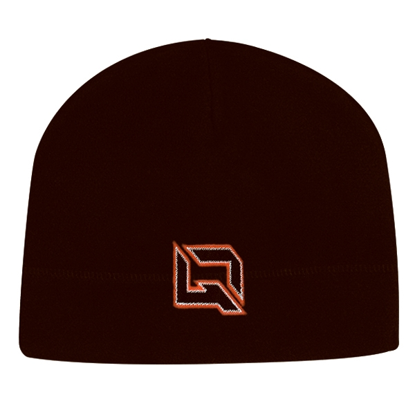 4955 Series - Black - 100% Polyester Fleece Beanie Photo