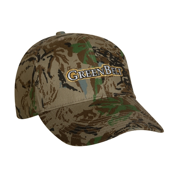 6400 Series - High Profile, Structured 6-panel Camouflage Baseball Cap With Cotton Twill Photo