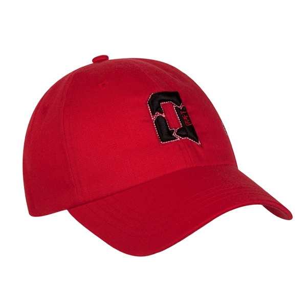 7725 Series - Red - 6-panel Low Profile Fashion Cap With Fabric Strap Closure Photo