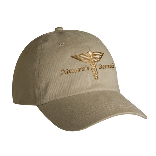 9000 Series - Sand - Low Profile, Brushed Cotton Twill, 6-panel Fashion Cap With Fabric Strap Closure Photo