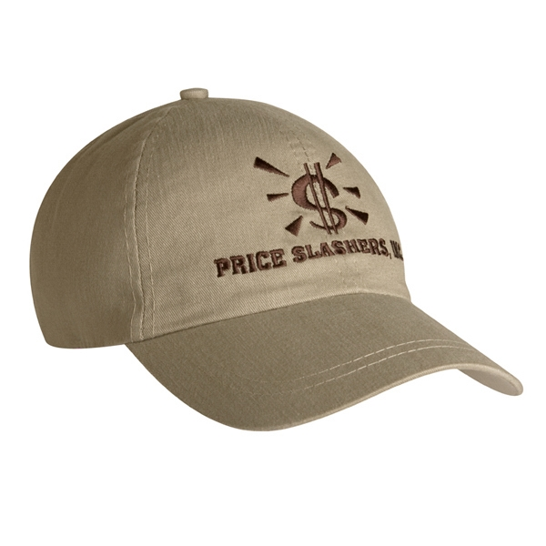 9100 Series - Stone - Unstructured, Low Profile, 100% Cotton, 6-panel Fashion Cap Photo