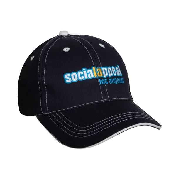 9900 Series - Black-white - Low Profile, Structured, 100% Cotton, 6-panel Cap Photo