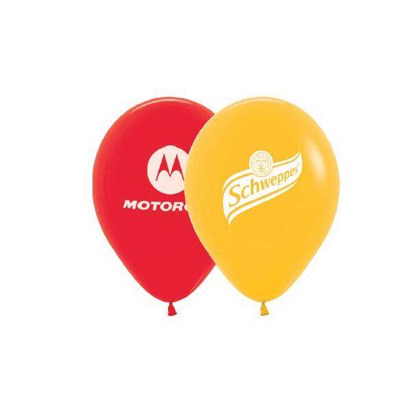 Helium Balloon Latex Imprinted 1 Side 1 Color - Metallic