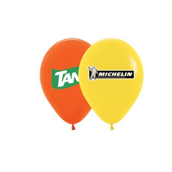 "Helium Balloon 15"" Latex - Helium Balloon 15"" Latex Imprinted 1 Side 2 Colors - Satin & Metallic."