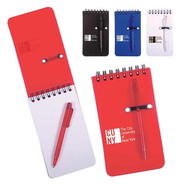 Spiral Bound Polypropylene Jotter With Pen Loop On Cover Photo