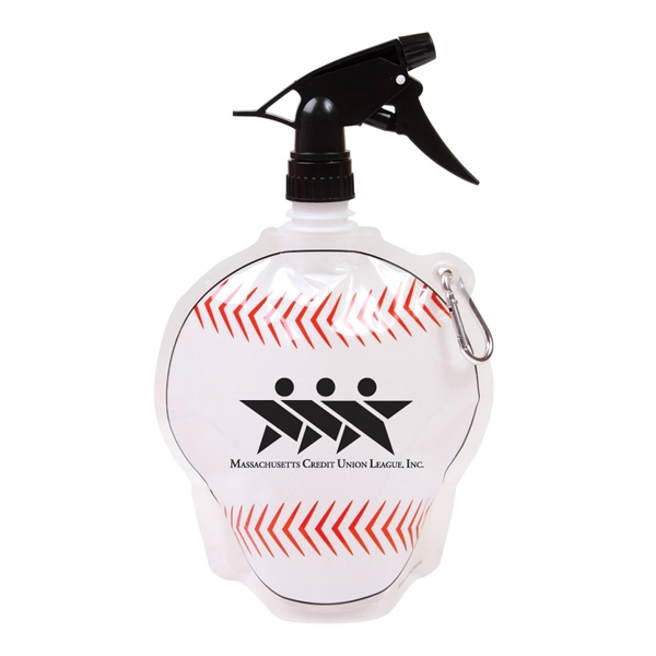 Hydropouch! (tm) - 24oz Baseball Collapsible Spray Top Water Bottle Photo