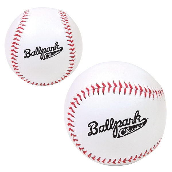 Synthetic Promotional Baseball With Pvc Exterior And Rubber And Cork Core Photo