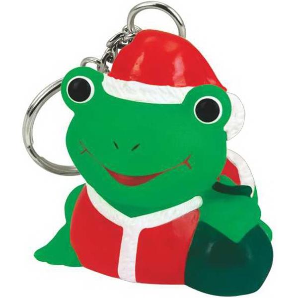 Rubber Santa Claus Frog Key Chain