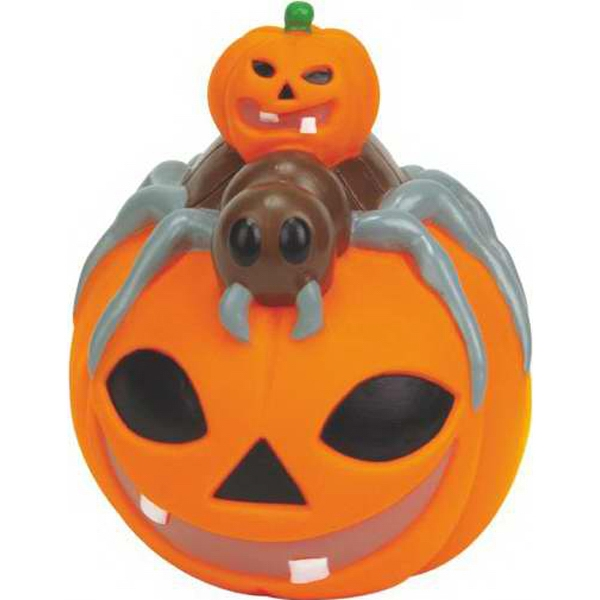 Rubber Pumpkin with Spider on Top