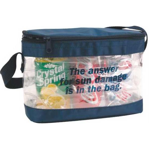 Transparent 3-Pack Cooler (Air Jacket Insulation) - Transparent 3 pack cooler.