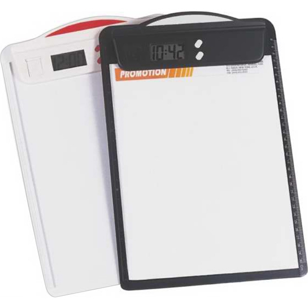 clipboard with clock bnoticed put a logo on it the promotional rh bnoticed com clipboard with clock staples clipboard with clock timer