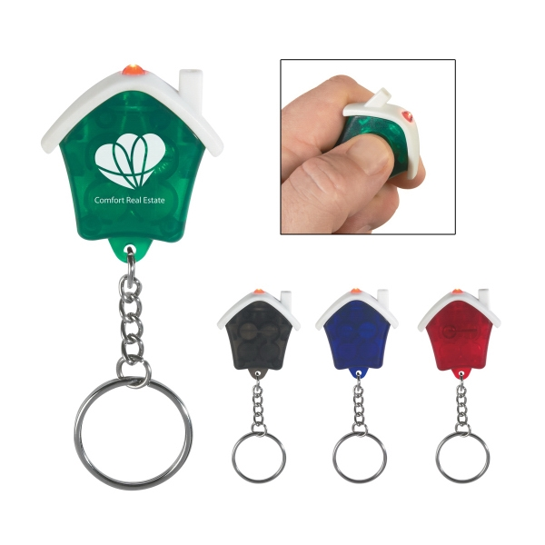 House Shape Led Key Chain Photo