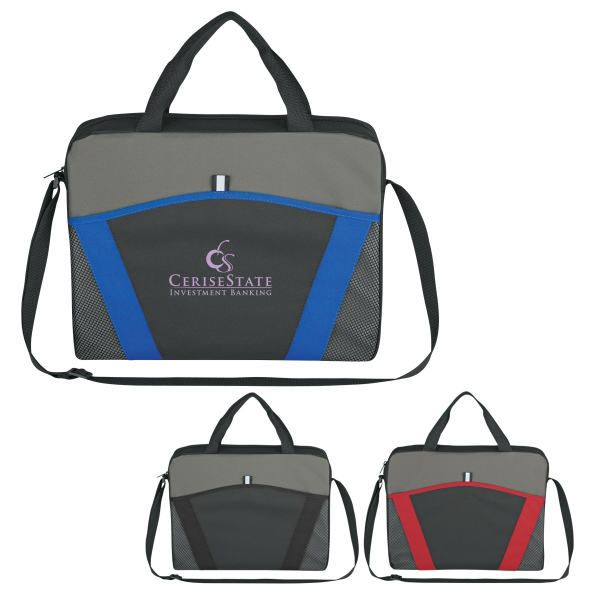 Casual Friday - Embroidery - Messenger Brief With Large Front Pocket And Adjustable Shoulder Strap Photo