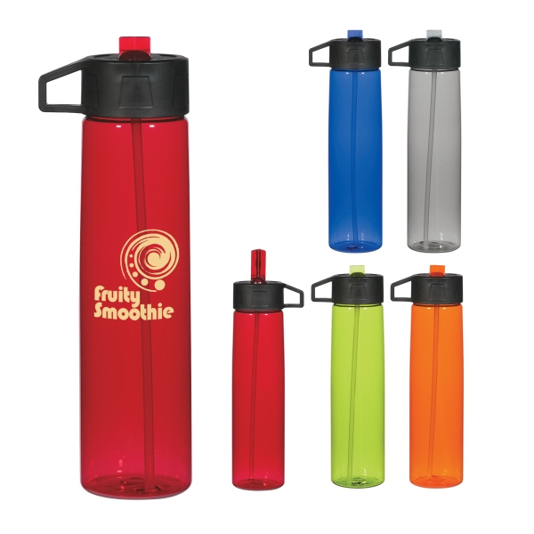 25 Oz. Water Bottle With Straw And Easy Carry Handle Photo