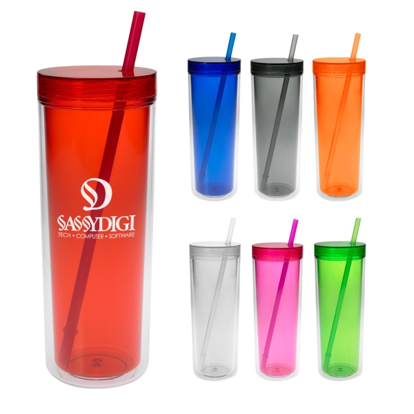 Aria - 16 Oz. Double Wall Tumbler With Screw On Lid Photo