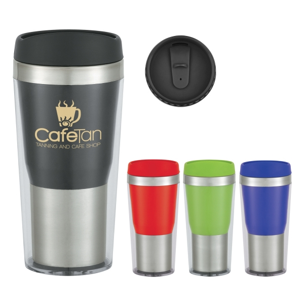 16 Oz. Auto Mug With Plastic Inner Liner Photo
