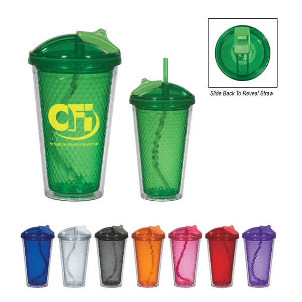 Diamond - 17 Oz. Double Wall Tumbler With Straw Photo
