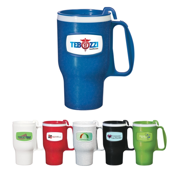 16 Oz. Travel Mug With Executive 4 Finger Ergonomic Handle Photo