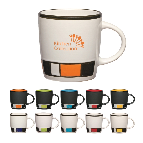14 Oz. Color Block Ceramic Mug Photo
