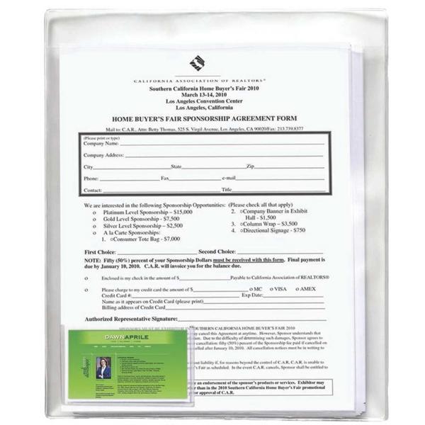Soft Vinyl Docupak W/Bus Card Pocket
