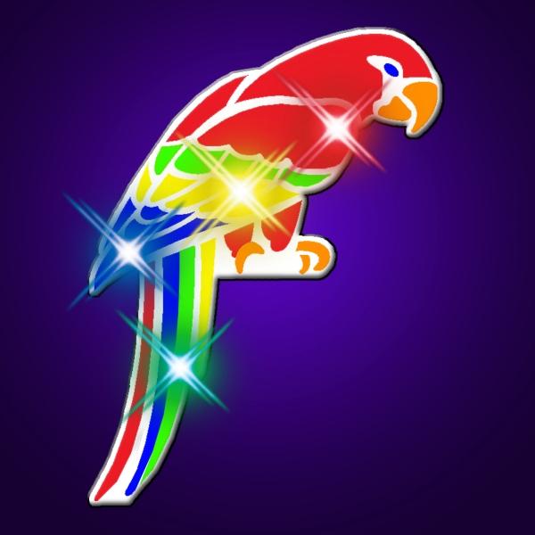 Flashing Parrot Lights