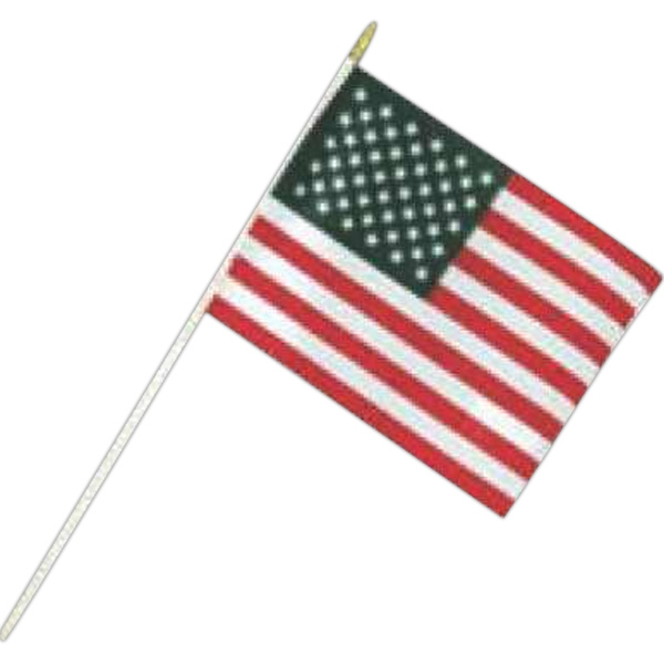 "4"" X 6"" - Hand Held U.s. Flag Made Of Rayon Photo"