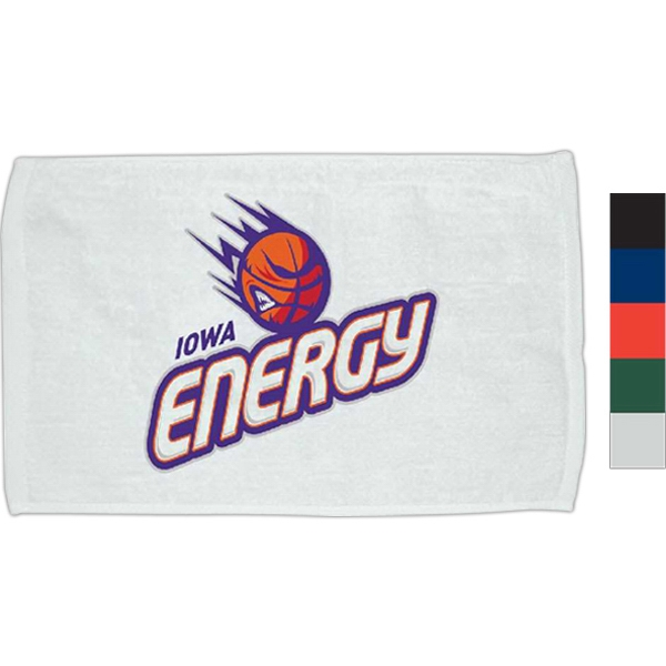 "Hemmed Dark Velour Rally Towel, Measures 11"" X 18"" Photo"