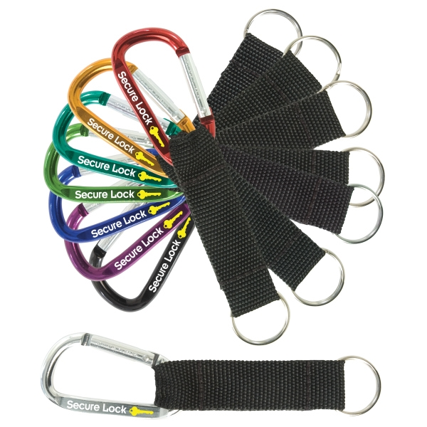 Small Carabiner With Black Nylon Strap Photo
