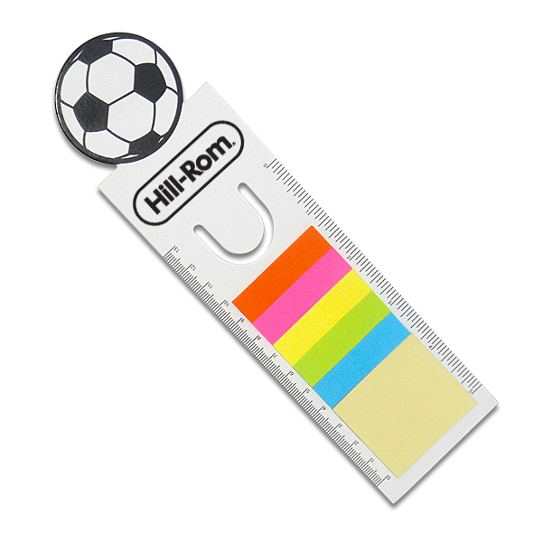 Soccer Ball - Sport-themed Bookmarks Include Sticky Notes And Double-sided Ruler Photo