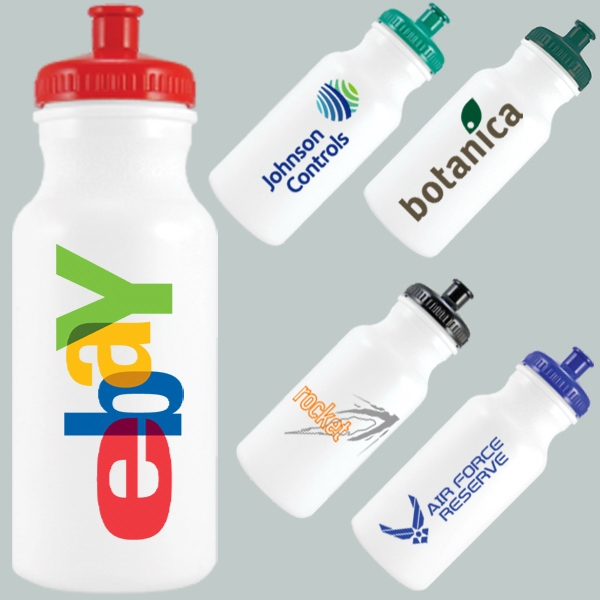 20 Oz. Eco-friendly Bike Water Bottle With Pop Top Lid Photo