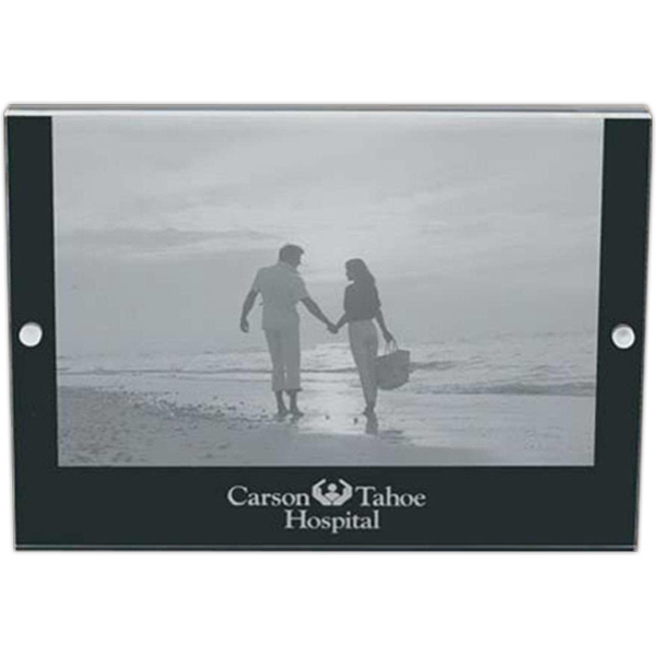 "Acrylic Magnet Picture Frame, For 5"" X 7"" Photos Photo"