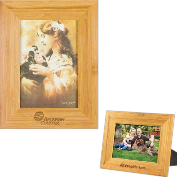 "Bamboo Picture Frame For 5"" X 7"" Photo, Handsome And Earthly Photo"