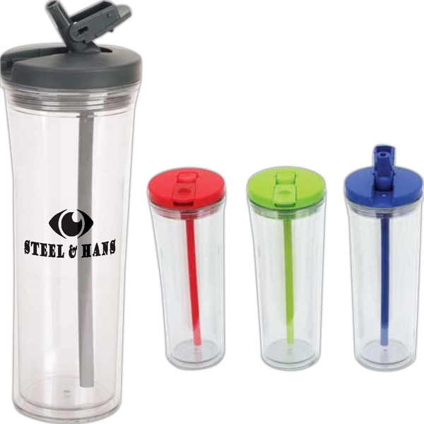 Clamp - 19 Oz. Tumbler With Pop Up Sipper Straw And Swivel Straw Latch Photo