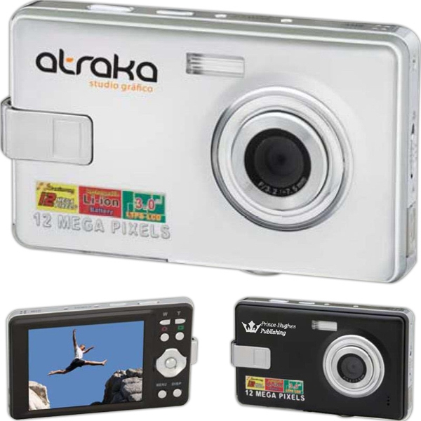 "Panoramic - Digital Camera With 12 Mp, 8x Digital Zoom Lens, And 3"" Color Lcd Screen Photo"